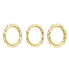 Golden oval frames - set vector