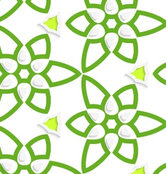 Green layered floristic swirl lace seamless vector