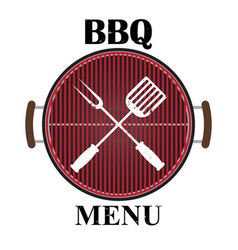 Grill menu isolated vector