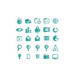 Icons seo set vector