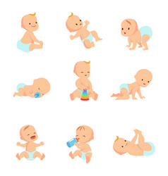 infant baby characters newborn in vector image vector image