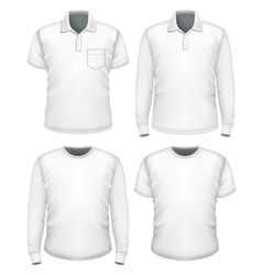 Men short and long sleeve clothes vector image