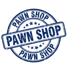 Pawn shop blue grunge round vintage rubber stamp vector