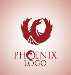 phoenix logo 1 vector image
