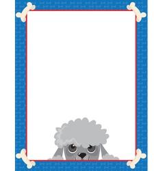 Poodle frame vector