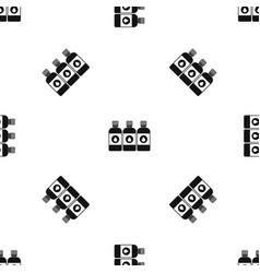 printer ink bottles pattern seamless black vector image vector image
