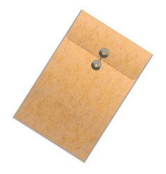 Realistic detailed brown folder vector