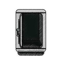 silver metal strong box open vector image
