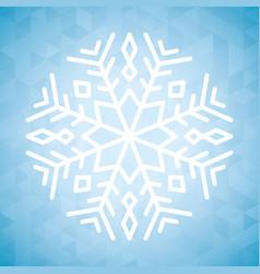 Snowflake winter and christmas design vector
