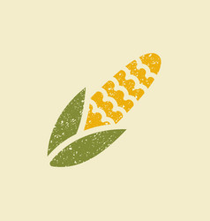 stylized flat icon of a corn vector image