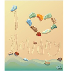 summer holiday postcard vector image vector image