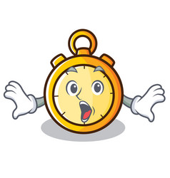 Surprised chronometer character cartoon style vector