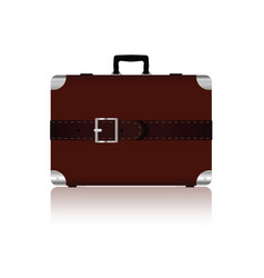 Travel bag with belts in brown color five variant vector