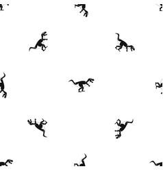 Tyrannosaur dinosaur pattern seamless black vector