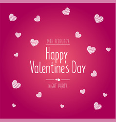 valentines day sale text with gift vector image