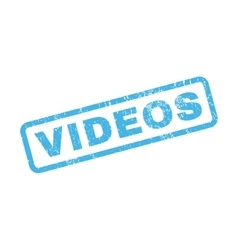 Videos rubber stamp vector
