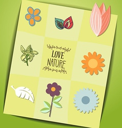 With nature and nature vector