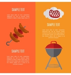 Barbecue grill vertical banners set vector