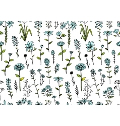 Floral seamless pattern sketch for your design vector