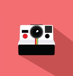 Polaroid vintage camera flat design vector