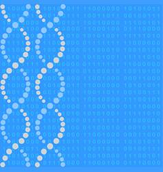 dna molecule with binary code vector image