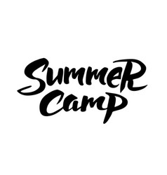 summer camp hand drawn brush lettering vector image