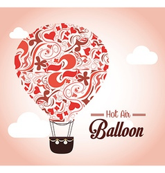 Air balloon over pink background vector