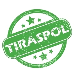 Tiraspol green stamp vector