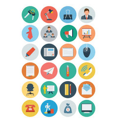 Office Flat Icons 2 vector image