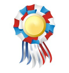 Tricolor winner award vector