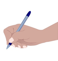 Hand with a ball pen vector