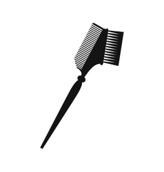 Bilateral comb black simple icon vector