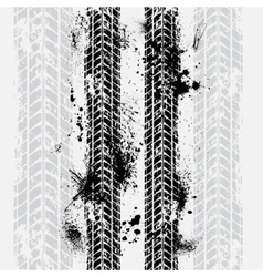 Tire tracks grunge background vector