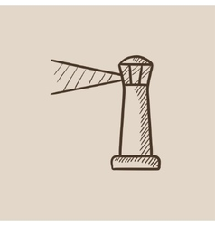 Lighthouse sketch icon vector