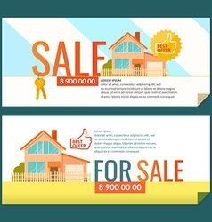 The ad poster sale of real estate vector