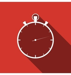 Timer icon with long shadow vector