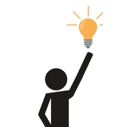 Person pictogram with lightbulb icon vector