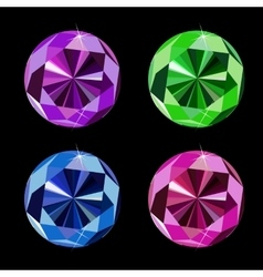 Abstract luxury diamond set vector