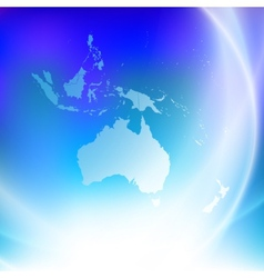 Australia map on the blue background vector