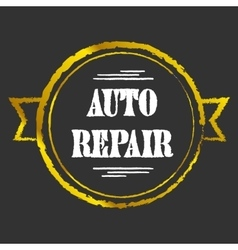 Auto Repair golden icon vector image vector image