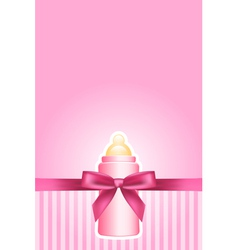 Baby bottle vector image