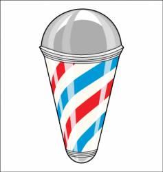 barbershop pole vector image