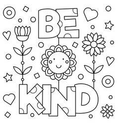 Choose kindness coloring page Royalty