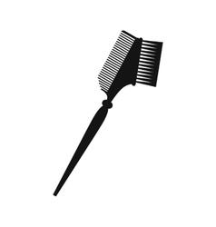 Bilateral comb black simple icon vector image vector image