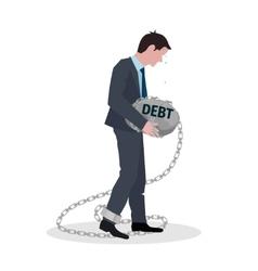 Business debt concept vector