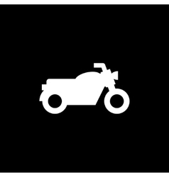 Classic motorcycle icon vector image