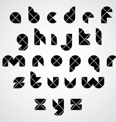 Digital style simple geometric font made with vector