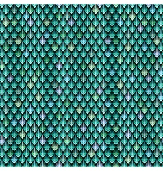Dragon scale green vector