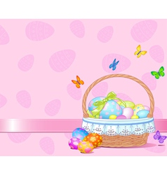 Easter Basket Background vector image vector image