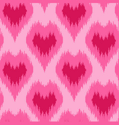 Ethnic seamless pattern with hearts vector
